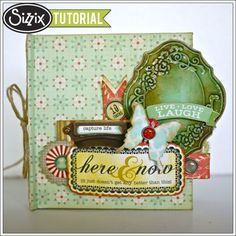 Sizzix Die Cutting Tutorial Mini Book by Aida Haron