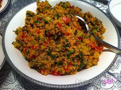 Kisir recipe - Samantha Home Appetizer Salads, Appetizer Recipes, Salad Recipes, Cooking 101, Cooking Recipes, Turkish Recipes, Ethnic Recipes, Bulgur Salad, Herbs