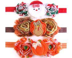 Holiday Headband SET, Baby Headbands, Toddler Headbands, Halloween Headband, Thanksgiving Headband, Christmas Headband