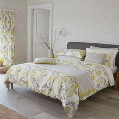Sanderson Bedding : Sanderson Wisteria Blossom Grey Duvet Cover