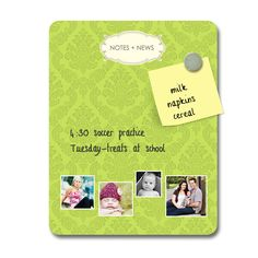 Magnetic/dry erase message board from Independent Photo Imagers - www.ipiphoto.com for the retailer closest to you