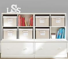 Cameron 2 Cubby & 2 Drawer Base Storage System #pbkids
