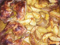 famozní pekáč dva v jednom Czech Recipes, Chicken Wings, Chicken Recipes, Pork, Meat, Desserts, Foodies, Recipes, Ground Chicken Recipes