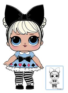 LOL Surprise Doll Coloring Pages – Page 7 – Color your favorite LOL Surprise Doll!