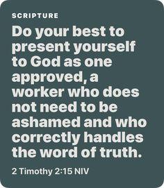 2 Timothy 2:15 NIV