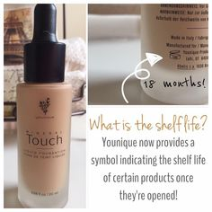 Did you know that cosmetics have a shelf life?  Younique shows you the lifetime right on the bottle!  Quality and Confidence!