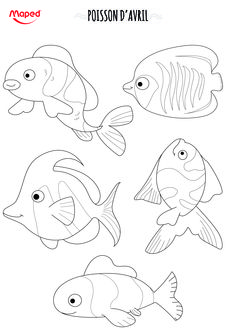 Poissons d'avril #Maped #Poissons #Avril #Poissonsdavril #DIY #Coloriage #Création #MalinCommeMaped