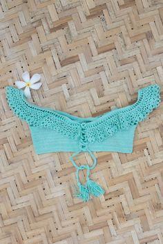 "Crochet Croptop Crochet Handmade Swimwear Crochet bra Crochet swimsuit Crochet top ""Queen"""