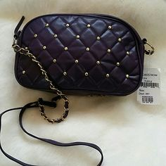 Quilted purple crossbody bag Never used, Gold hardware details, one interior zip pocket, zipper closure, strap length 44in, 9 in X 5.5in, NWT none Bags Mini Bags