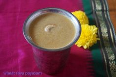 Wheat rava payasam is made with the cream of rava which is slightly bigger than the normal size rava.It is called dhalia in hindi and normally porridge or kanji is made with it.We can also make upma and kesari with it though and it is very good for diabetics and healthy too. I am planning to post more recipes with this in the near future, but for the time being, I made this payasam during navarathri celebrations last week and was liked by all. A simple and no fuss recipe this requires a…