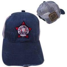 Hollywood Stars Mudwashed Snap Back Trucker Hat Minor League Baseball, Snap Backs, Baseball Caps, Hollywood Stars, Search, Hats, Cotton, Fashion, Baseball Hats