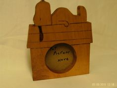 wood Snoopy picture frame made to order by UneekWoodenCrafts