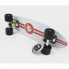 "White Fish Skateboard Wood Maple 22"""" Retro 70's Urban Cruiser Beach Sidewalk NEW"