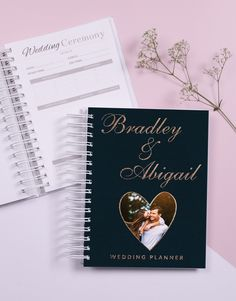 Help the newly engaged couple plan their special day with this nifty wedding planner. Personalized Stationery, Personalized Gifts, Engagement Gifts For Couples, Online Gifts, Couple Gifts, Special Day, Wedding Ceremony, Planner Online, Wedding Planner