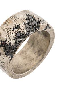 Designer Rings for Men Tobias Wistisen broken stone edge ring