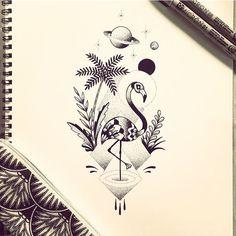 Flamingo des Caraïbes :) #flamingo #isla #illustration #draw #tattoo #violette #bleunoir #bleunoirtattoo #violettetattoo #geometrictattoo #dotwork #blackwork #blackworkerssubmission #blacktattoo #blacktattoomag #blacktattooart #btattooing #iblackwork #inkstinctsubmission #equilattera #darkartists