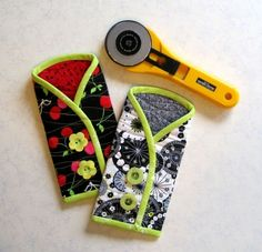 Instructions for a Protective Coat for Your Rotary Cutter - Quilting Digest                                                                                                                                                                                 More