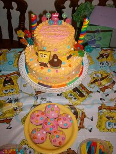 Spongebob candy cake. March 2013.
