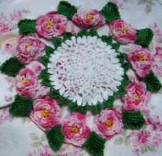 Floral doily