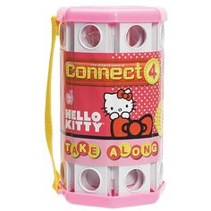 Hello Kitty fans can game on the go with this Connect 4 Hello Kitty Roll and Go Game. This is a Hello Kitty version of the classic Connect 4 game that you can Hello Kitty Games, Hello Kitty Rooms, Games Box, Games To Play, Board Game Box, Bobtail Cat, Hello Kitty Pictures, Trivial Pursuit, Go Game