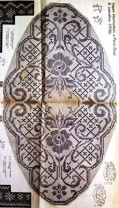 Kira scheme crochet: Scheme crochet no. Filet Crochet, Crochet Chart, Crochet Motif, Crochet Doilies, Knit Crochet, Crochet Patterns, Crochet Flower, Crochet Table Runner, Crochet Tablecloth
