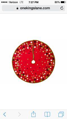 Button Christmas Tree skirt Fabulous!!!