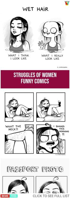 Funny Comics That Shows Struggles of Women #comics #funny #women #humour #relatablecomics #womenproblems