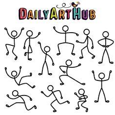 Stickman Gestures Clip Art Set – Daily Art Hub – Free Clip Art Everyday Doodle Drawings, Easy Drawings, Doodle Art, Kids Art Class, Art For Kids, Drawing Cartoon Faces, Stick Figure Drawing, Art Hub, Art Worksheets