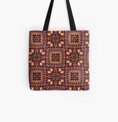 Large Bags, Small Bags, Cotton Tote Bags, Reusable Tote Bags, Persian Pattern, Red Bricks, Himalayan, Medium Bags, Ferns