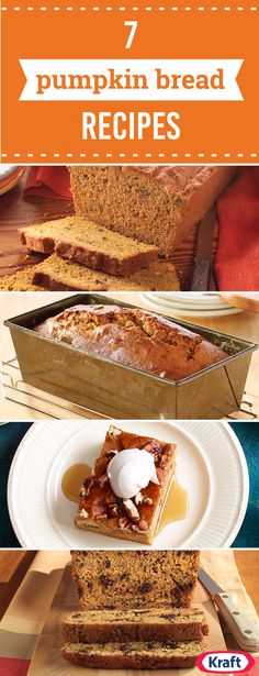 7 Pumpkin Bread Recipes – Thanks to canned pumpkin, you can serve up delicious fall desserts any time of year. Serve one of these flavorful pumpkin bread recipes for breakfast while family and friends are visiting this fall! Pumpkin Loaf, Pumpkin Dessert, Canned Pumpkin, Pumpkin Spice, Pumpkin Recipes, Fall Recipes, Holiday Recipes, Sweet Recipes, Baking Recipes