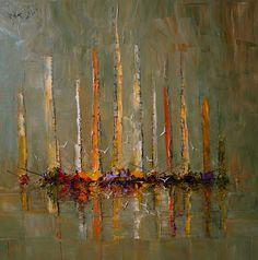 "Saatchi Online Artist: Justyna Kopania; Oil, 2012, Painting ""Boats"""