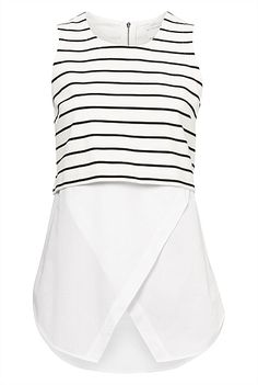 Stripe Crop Underlay Top from Witchery - I've eyed this top up a few times instore. You can't go wrong with tailored nautical, great for work or weekend wear. #NAUTICAL #WORKWEAR #WITCHERYSTYLE