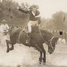Mabel Strickland Woodward—one of the earliest female rodeo cowgirls.