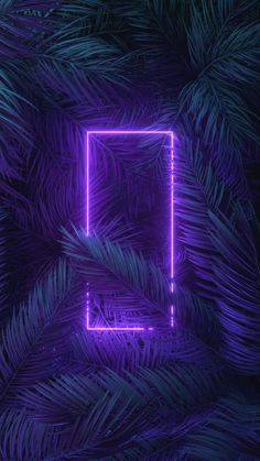 Neon Light Trees IPhone Wallpaper - IPhone Wallpapers