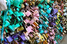 """""""Locks of Love"""" Student Photo in Pont de l'Archeveche, Paris, France"""
