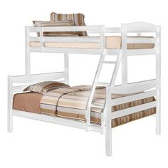 Home Loft Concepts Twin over Double Bunk Bed Finish: White