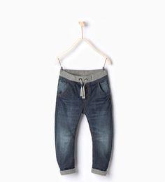 ZARA - KIDS - Jeans with ribbed waistband