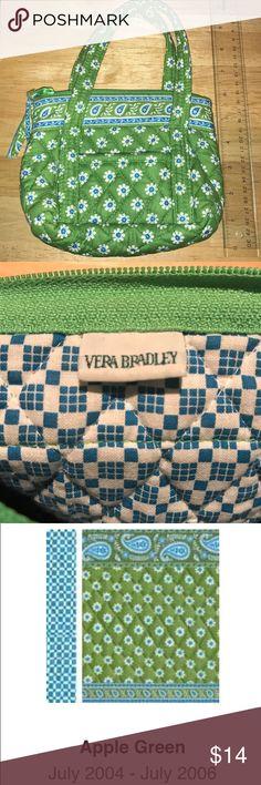 Vera Bradley RETIRED Apple Green Bag Apple Green quilted mini purse Vera Bradley Bags Mini Bags