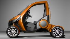 The Casple-Podadera is a two-seater city car that boasts a unique folding characteristic to allow it to fit in tight parking spaces usually reserved for motorcycles.