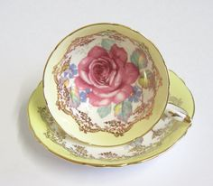 Vintage English Fine Bone China Teacup and by TheWhistlingMan