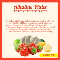 Alkaline Water - Spice It Up! | For more info about Alkaline Water: http://www.alkalux.com/knowledge-base/about-alkaline-water.html