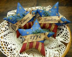 Primitive Patriotic Stars Bowl Fillers by CountryThymePrims, $14.00