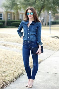 """To My Fellow Saskatchewanians & Canucks we know what this Young Woman Emily from Ontario Is Wearing a Canadian Fashion Statement ~ It Is the """"CANADIAN TUXEDO""""."""