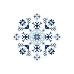снежинка PDF Картина стежком креста на мгновенных PrincesseNature