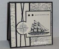 Creative Crew Challenges for December - The Open Sea by shoogendoorn - Cards and Paper Crafts at Splitcoaststampers