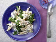 Gorgonzola-Spinat-Pasta - mit rosa Pfefferbeeren