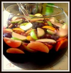 Sangria.  The perfect drink for a Spanish tapas dinner. Living De Tapas