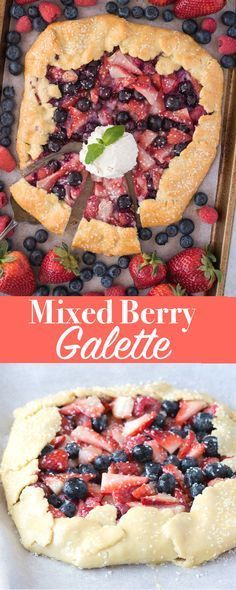 Summer berry pie recipe with an EASY all butter crust. This mixed berry galette is pie's nontraditional little sister! #galette #berrypie #summerpie
