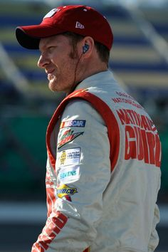 Dale Earnhardt Jr., driver of the #88 National Guard Chevrolet, stands on the grid during qualifying for the NASCAR Sprint Cup Series 5-Hour Energy 400 at Kansas Speedway on May 9, 2014 in Kansas City, Kansas.  http://www.pinterest.com/jr88rules/nascar-2014/ #NASCAR2014