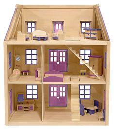 Это мне)))) Melissa and Doug Dollhouse; three floors, 1 dividing wall, 2 stairs, lots of windows